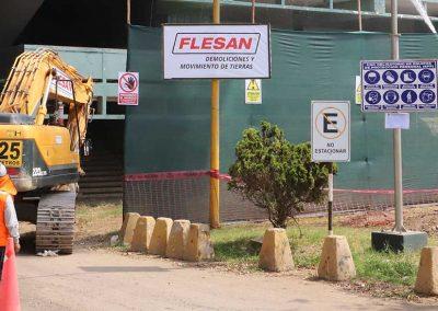 Demolición Escuela de Oficiales PNP Chorrillos
