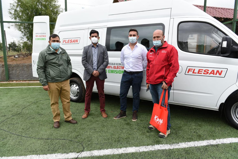 Flesan Obras Públicas presentó su flota de Electromovilidad junto a diversas autoridades